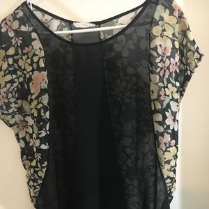 Floral See Through short to long top